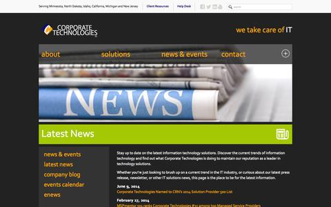 Screenshot of Press Page gocorptech.com - IT Solutions News | Current Trends of Information Technology - captured Oct. 1, 2014