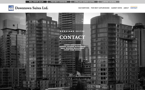 Screenshot of Contact Page downtownsuites.ca - Contact - Downtown Suites, Ltd. - captured Oct. 13, 2017