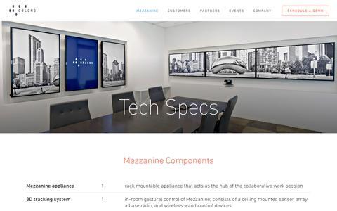 Mezzanine Tech Specs - Oblong Industries