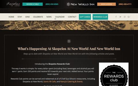 Screenshot of Press Page skopelosatnewworld.com - News - Skopelos at New World - captured July 4, 2018