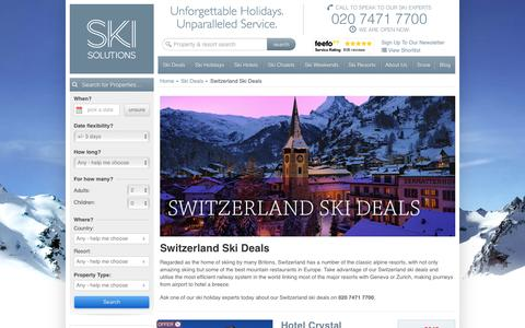 Switzerland Ski Deals | Ski Solutions