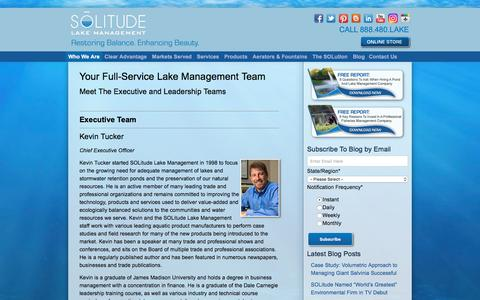 Screenshot of Team Page solitudelakemanagement.com - Your Full-Service Lake Management Team | Executive Team - captured July 26, 2018