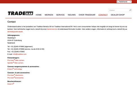 Screenshot of Contact Page tradekar.com - Contact - captured Oct. 19, 2018