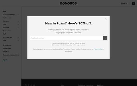 Screenshot of Login Page bonobos.com captured April 20, 2017