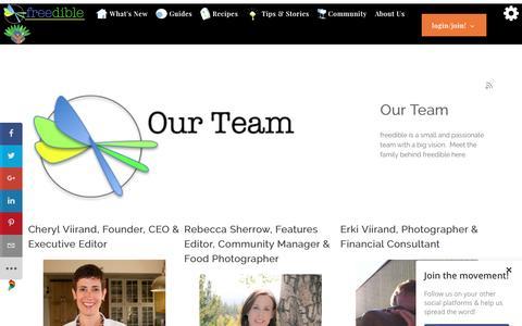 Screenshot of Team Page freedible.com - Our Team - captured Nov. 25, 2016