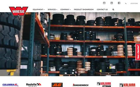 Screenshot of Home Page wieseusa.com - Wiese USA | Material Handling Solutions Provider For the Midwest - captured Sept. 20, 2018