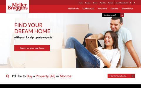 Screenshot of Home Page mellerbraggins.com - Welcome to Meller Braggins - Cheshire Estate Agent - captured Jan. 9, 2016