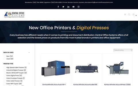 Screenshot of Products Page centralofficesystems.com - PRODUCTS - Central Office Systems - captured Sept. 5, 2019