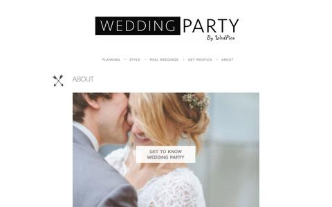 Screenshot of About Page wedpics.com - About — Wedpics Blog - captured Feb. 14, 2020
