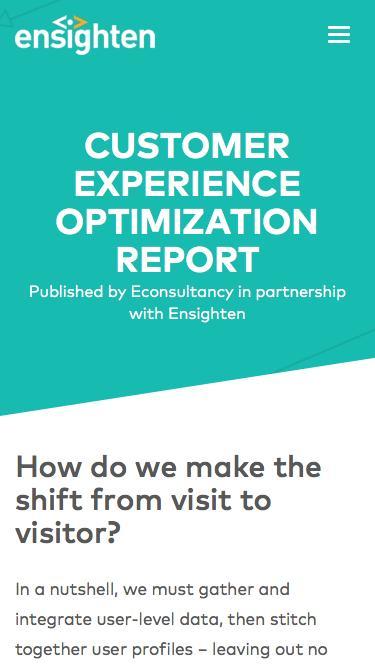 Econsultancy Customer Experience Optimization Report | Registration