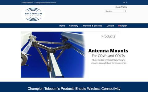 Screenshot of Products Page championtelecom.com - Products - Champion Telecom - captured Jan. 27, 2016