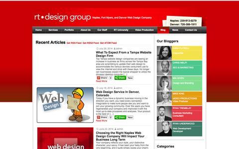 Screenshot of Blog rtdesigngroup.com - Everyday Musings of Web Design, SEO, Marketing, Video and Graphics - captured Sept. 30, 2014