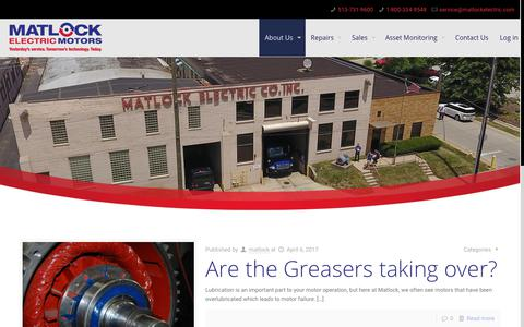 Screenshot of Blog matlockelectric.com - Blog 4-12 | Matlock - captured Oct. 17, 2017