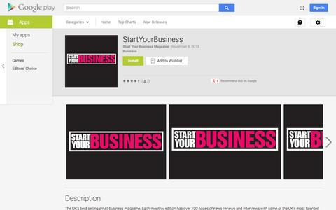 Screenshot of Android App Page google.com - StartYourBusiness - Android Apps on Google Play - captured Oct. 30, 2014