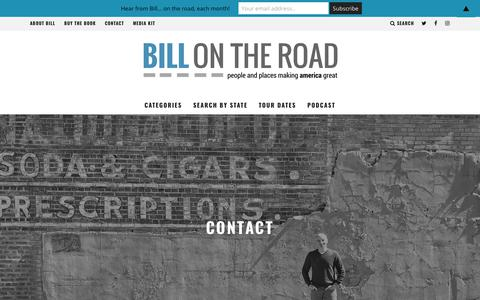 Screenshot of Contact Page billontheroad.com - Contact Bill | Bill On The Road - captured Oct. 19, 2018