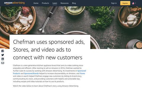 Screenshot of Case Studies Page amazon.com - Chefman | Amazon Advertising - captured Sept. 25, 2019