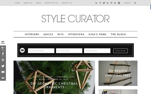 Screenshot of Home Page stylecurator.com.au - STYLE CURATOR - latest home decorating, design, DIYs, home tours and interviews with people in the industry - captured Dec. 2, 2015