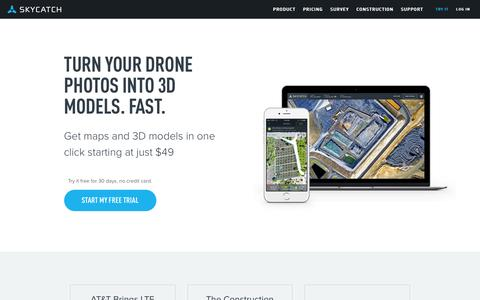 Screenshot of Home Page skycatch.com - Skycatch | Drone data software platform - captured Oct. 16, 2016