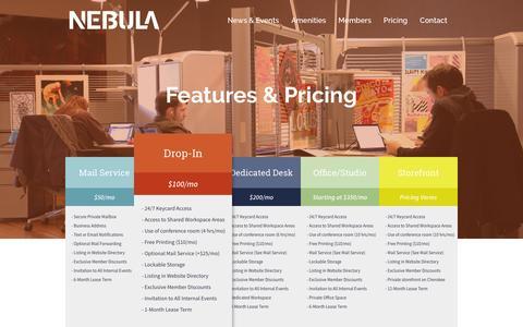Screenshot of Pricing Page nebulastl.com - Pricing | Nebula - captured Feb. 22, 2016