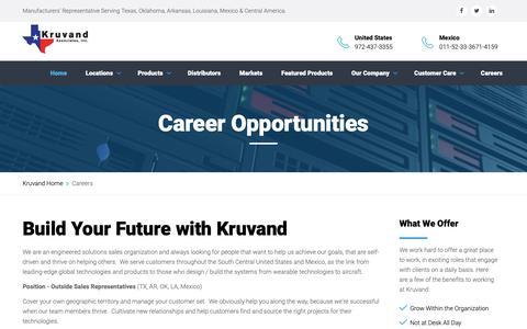 Screenshot of Jobs Page kruvand.com - Careers - captured Oct. 16, 2018