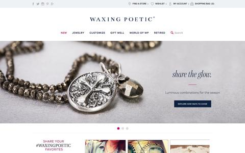 Screenshot of Home Page Site Map Page waxingpoetic.com - Waxing Poetic Jewelry - Find New Items On Official Website - captured Sept. 22, 2014