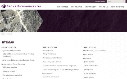 Screenshot of Site Map Page stone-env.com - Sitemap - captured Oct. 20, 2018