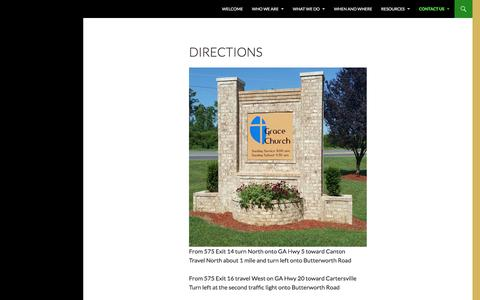 Screenshot of Maps & Directions Page gracecanton.org - Directions - Grace Church - captured Sept. 30, 2016