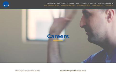 Screenshot of Jobs Page responsemine.com - Digital Marketing Jobs - Response Mine Careers - captured Sept. 22, 2018
