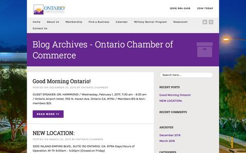 Screenshot of Blog ontario.org - Blog Archives - Ontario Chamber of Commerce - captured Jan. 24, 2017