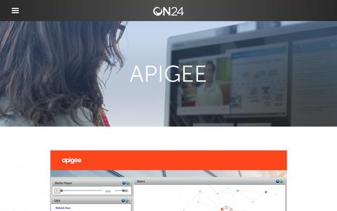 Screenshot of Case Studies Page on24.com - Case Study: Apigee webinars draw 50% more attendees   ON24 - captured Oct. 12, 2017