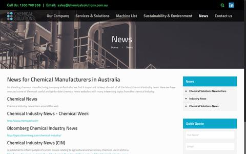 Screenshot of Press Page chemicalsolutions.com.au - Chemical Industry News   Chemical Solutions - captured May 12, 2017