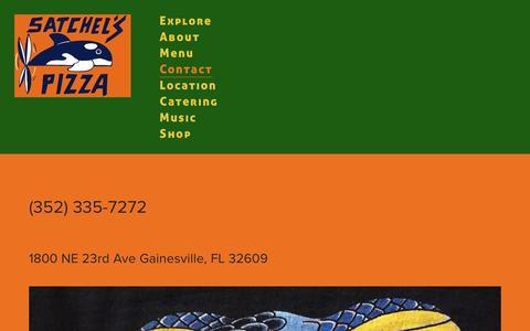 Screenshot of Contact Page satchelspizza.com - Contact — Satchel's Pizza - captured Nov. 22, 2017