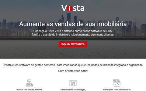 Screenshot of Trial Page novovista.com.br - Trial Novo Vista - captured July 11, 2018