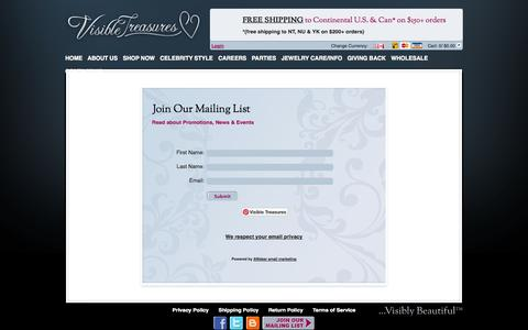 Screenshot of Signup Page visibletreasures.com - Join Us - captured Oct. 26, 2014