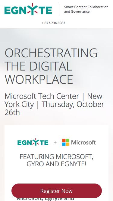 Orchestrating the Digital Workplace Seminar with Egnyte, Microsoft and Gyro