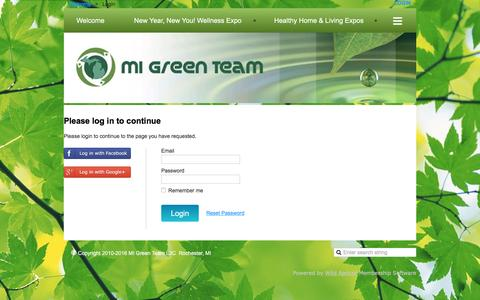 Screenshot of Login Page migreenteam.com - MI Green Team L3C - Authorization required - captured Nov. 18, 2016