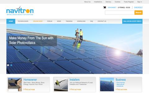 Screenshot of Home Page navitron.org.uk - Navitron - captured Oct. 1, 2015