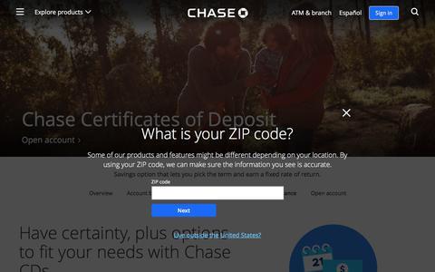 Certificate of Deposit | Savings | Chase.com