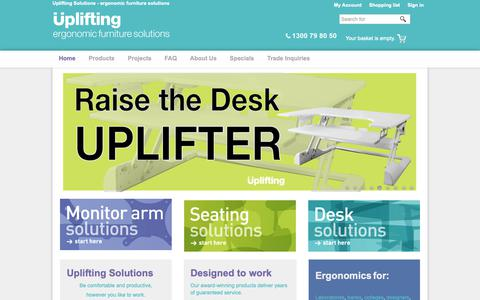 Screenshot of Case Studies Page uplifting.com.au - Uplifting Solutions - ergonomic furniture solutions - captured Oct. 18, 2018