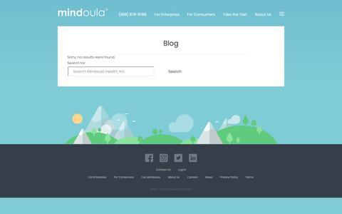 Screenshot of Blog mindoula.com - Blog | Mindoula Health, Inc. - captured Oct. 18, 2018