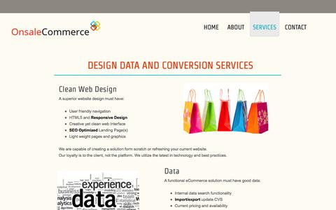 Screenshot of Services Page onsalecommerce.com - Services - Onsale Commerce - captured Oct. 26, 2014