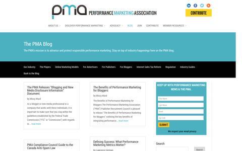 Screenshot of Blog thepma.org - Blog | The PMA - captured Sept. 19, 2014