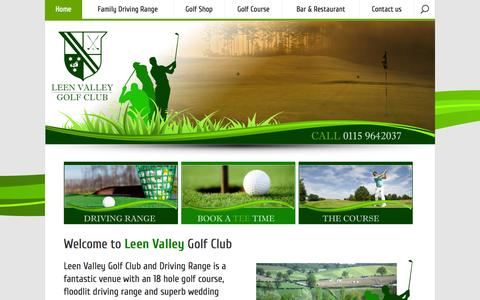 Screenshot of Home Page leenvalleygolfclub.com - Leen Valley Golf Club & Driving Range - captured Sept. 29, 2014