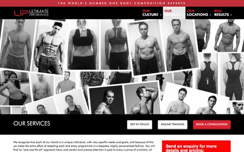 Screenshot of Services Page upfitness.co.uk - Ultimate Performance - Services - captured Nov. 28, 2016