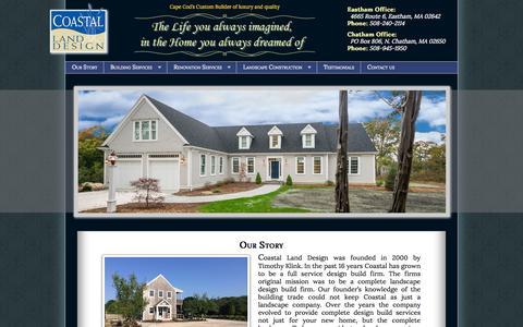 Screenshot of Home Page landcape.com - Coastal Land Design - Building The Luxury Lifestyle - captured Sept. 19, 2015
