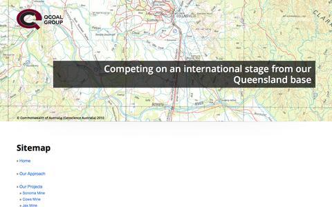 Screenshot of Site Map Page qcoal.com.au - Sitemap | QCoal Group - captured Jan. 23, 2016