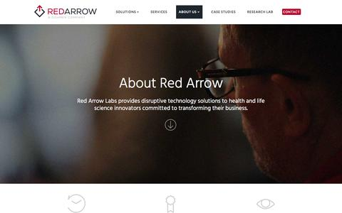 Screenshot of About Page redarrowlabs.com - About Red Arrow Labs | Red Arrow Labs - captured Nov. 29, 2016