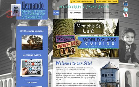 Screenshot of Home Page hernandoms.org - Hernando Chamber of Commerce - captured Dec. 15, 2018