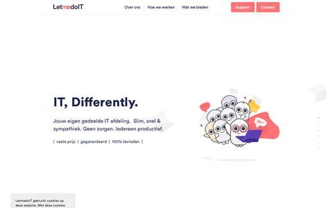 Screenshot of Home Page letmedoit.nl - LetmedoIT - captured Dec. 8, 2018