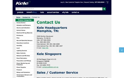 Screenshot of About Page Contact Page kele.com - Contact Kele - captured June 26, 2017